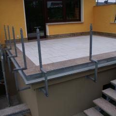 Terrasse nach Neuaufbau