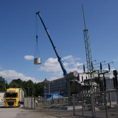 Trafofeld Umspannwerk Heidenau (ENSO)