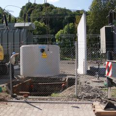 Einbau Abscheider Umspannwerk Heidenau ( ENSO)