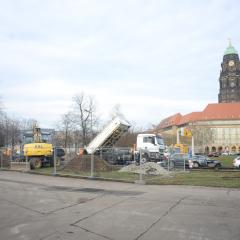 Tiefbauarbeiten / Rathausturm